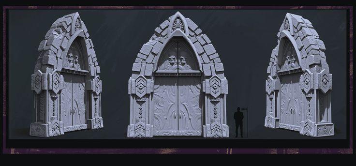 Props:  Deamon Doors and Windows, Maxime Delcambre on ArtStation at https://www.artstation.com/artwork/eQPAw