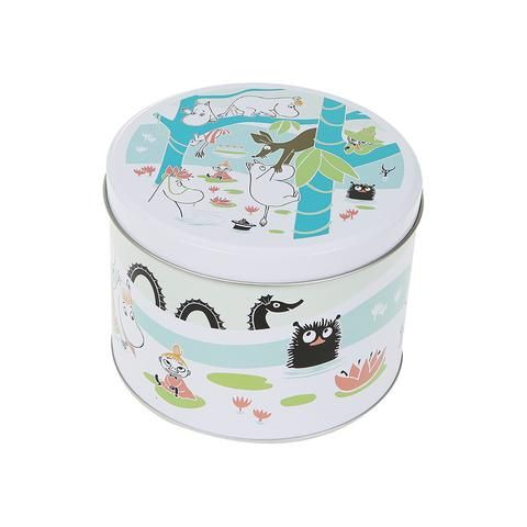 Moomin and the pond round jar