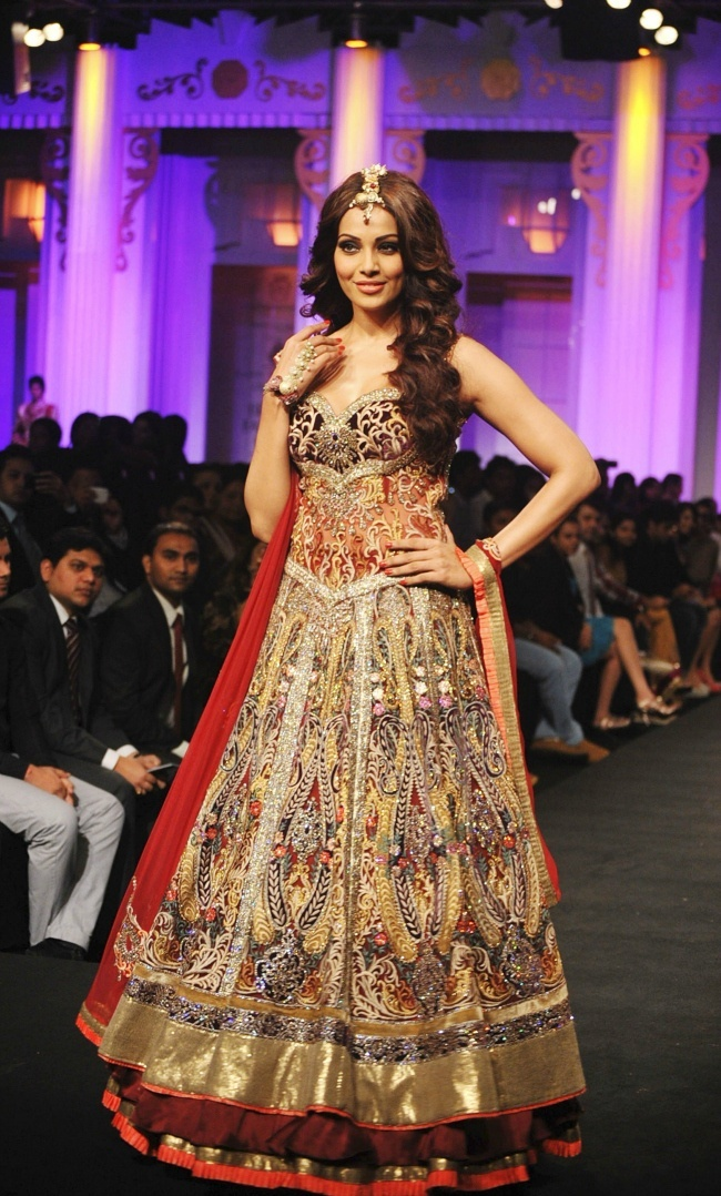 Bollywood actress Bipasha Basu walks the ramp during the Aamby Valley India Bridal Fashion Week in Mumbai.