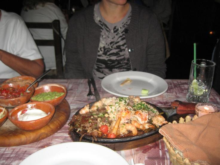 We enjoy great food in Nuevo Vallarta at Fajita Republic