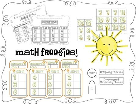 Spring time ideas1St Grade Math, Math Tubs, Math Center, Math Freebies, Grade Site, Freebies Math, Math Activities, 1St Grades, Addition And Subtraction