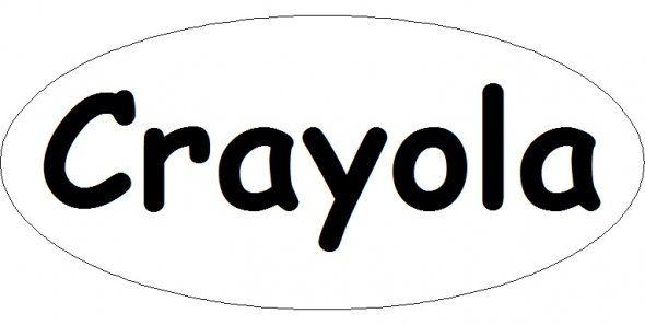Crayola Logo Template   Fun Coloring