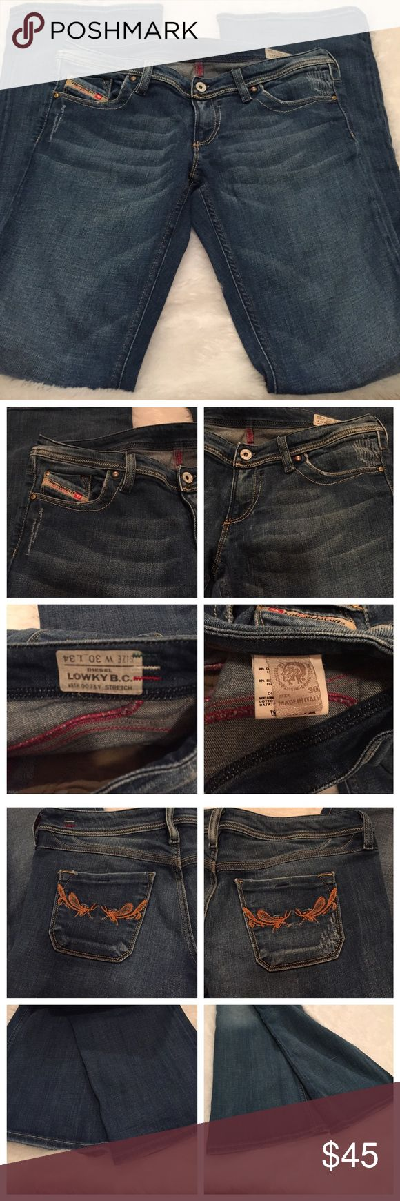Diesel women's jeans Diesel lowky boot cut stretch jeans. Size W30xL34. Made in Italy. Diesel Jeans Boot Cut
