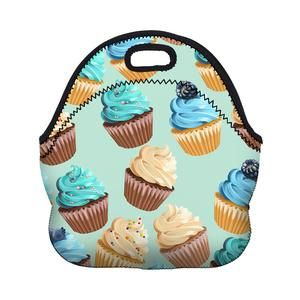 Lunch Bag - Cupcake in Blue