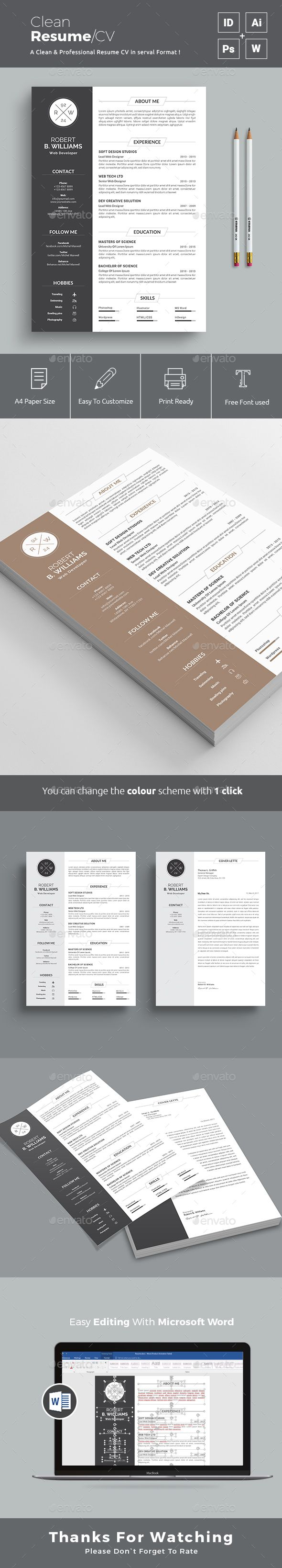 Resume Template Design https://graphicriver.net/item/resume/19377053?ref=themedevisers