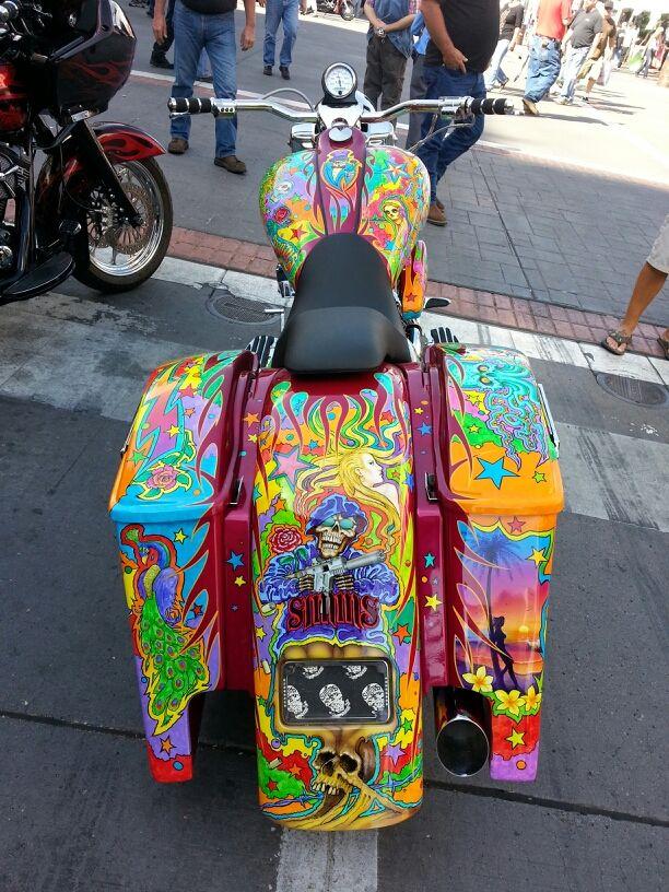 We love the interesting motorcycles we see at motorcycle rallies - Reno, Nevada.