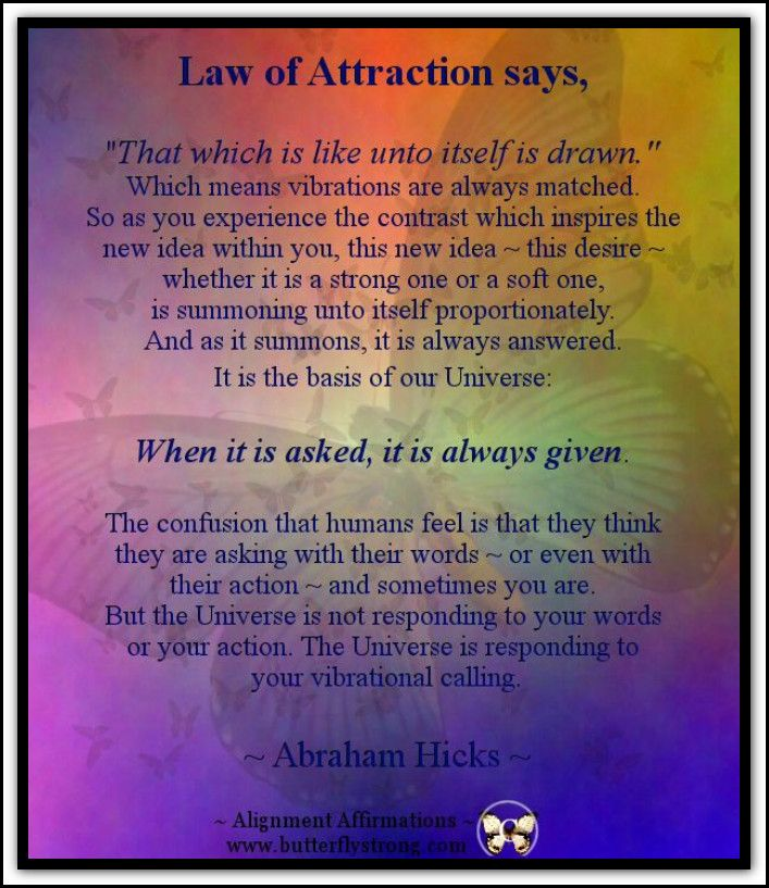 Law of Attraction says... *Abraham-Hicks Quotes (AHQ1110)