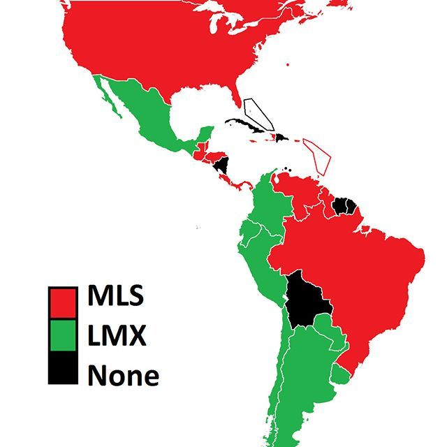 Here in North America, 🇺🇸MLS🇨🇦 & 🇲🇽Liga MX🇲🇽 are the top leagues of the region. I decided to put that into use by mapping which country's national team members have the most players playing for either league.  Done research on Wikipedia from each of the national team's recent sqauds (total number of players in parathesis): Major League Soccer (128): 🇺🇸43, 🇨🇦18, 🇨🇷12, 🇯🇲-11, 🇵🇦7, 🇭🇳🇹🇹🇬🇹5, 🇭🇹🇸🇻4, 🇻🇪2, 🇧🇷🇧🇿🇵🇷🇬🇾🇦🇬🇧🇲🇲🇶🇰🇳1  Liga Bancomer MX (86)…