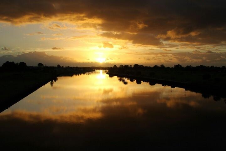 Sunrise in autumn 2