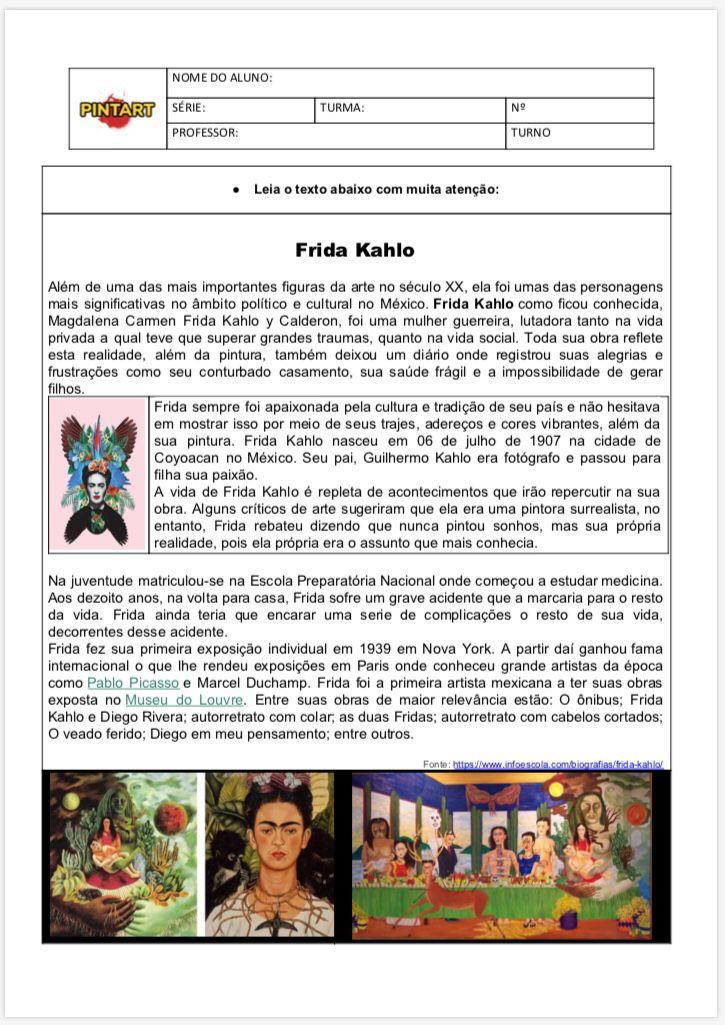 Pintart Oficial Em 2020 Atividades De Arte Ensino Medio