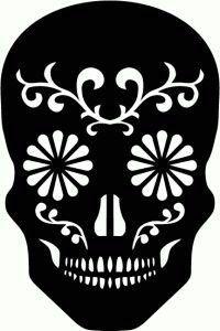 Easy sugar skull stencil