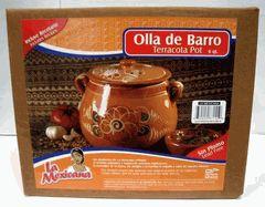 Olla de Barro Frijolera sin Plomo / Lead Free Clay Bean Pot with lid $24.95