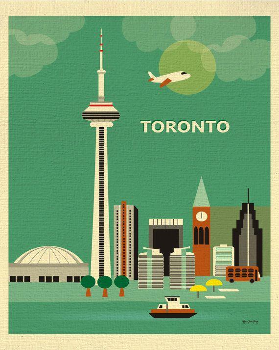 Toronto Print, Toronto Skyline, Toronto Art, Canada Print, Toronto Digital…