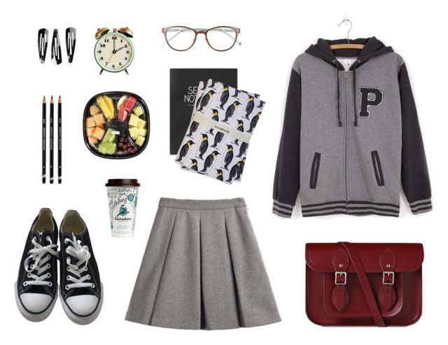 """""""back to school"""" by alenaganzhela on Polyvore featuring мода, My Mum Made It, The Cambridge Satchel Company, Converse, Pusheen, Topshop, martha and hepsie, Kate Spade, NLY Accessories и BackToSchool"""