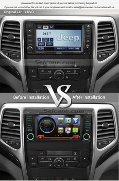 All-in-one 2011 2012 2013 Jeep Grand Cherokee aftermarket car navigation system 7 inch 800*480 2‐DIN WVGA HD Digital TFT LCD touch screen. Cortex A9 Star 785 1GHz CPU with 1G RAM.