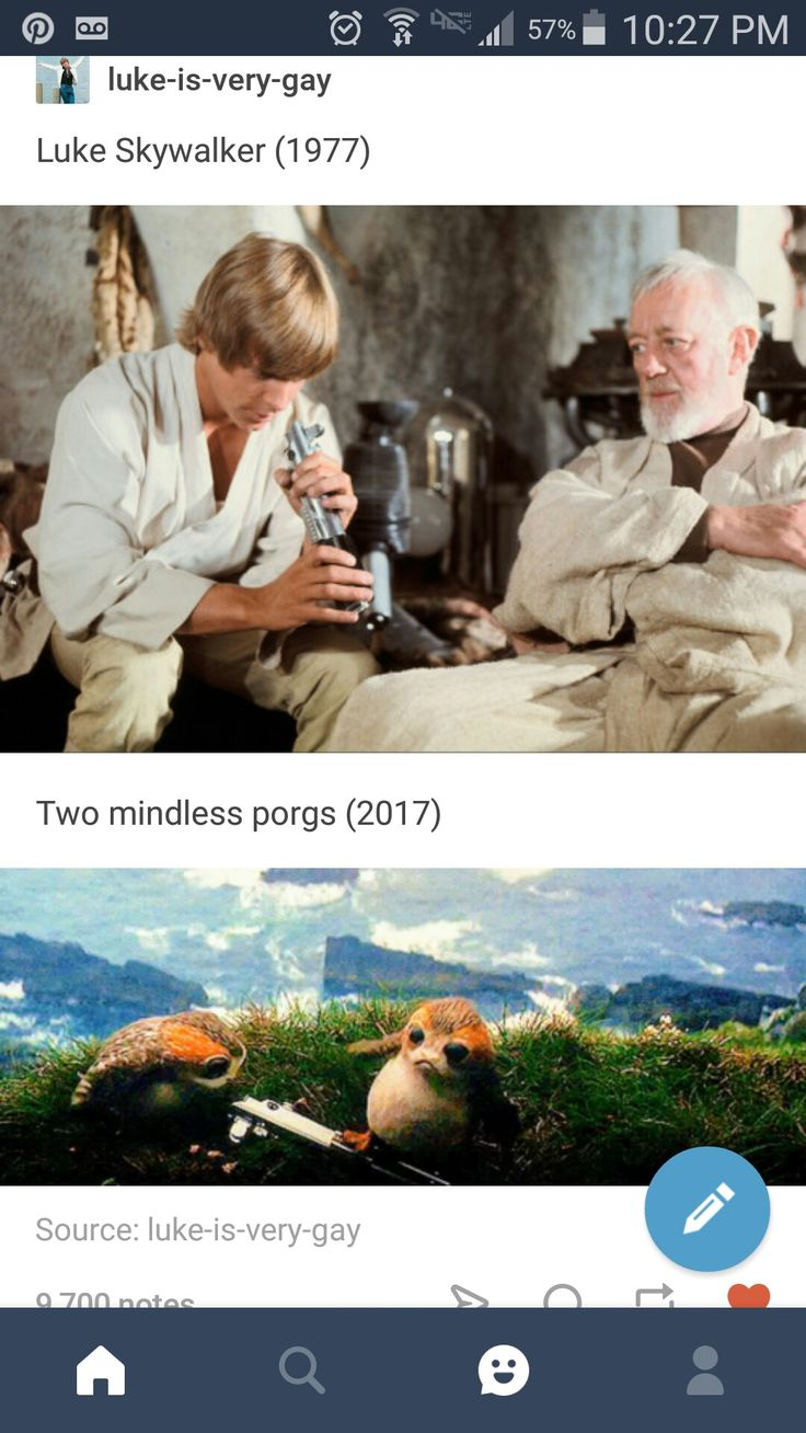 Luke Skywalker vs porgs a new hope the last jedi