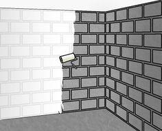 1000 id es propos de murs en parpaings sur pinterest for Peindre un mur en parpaing