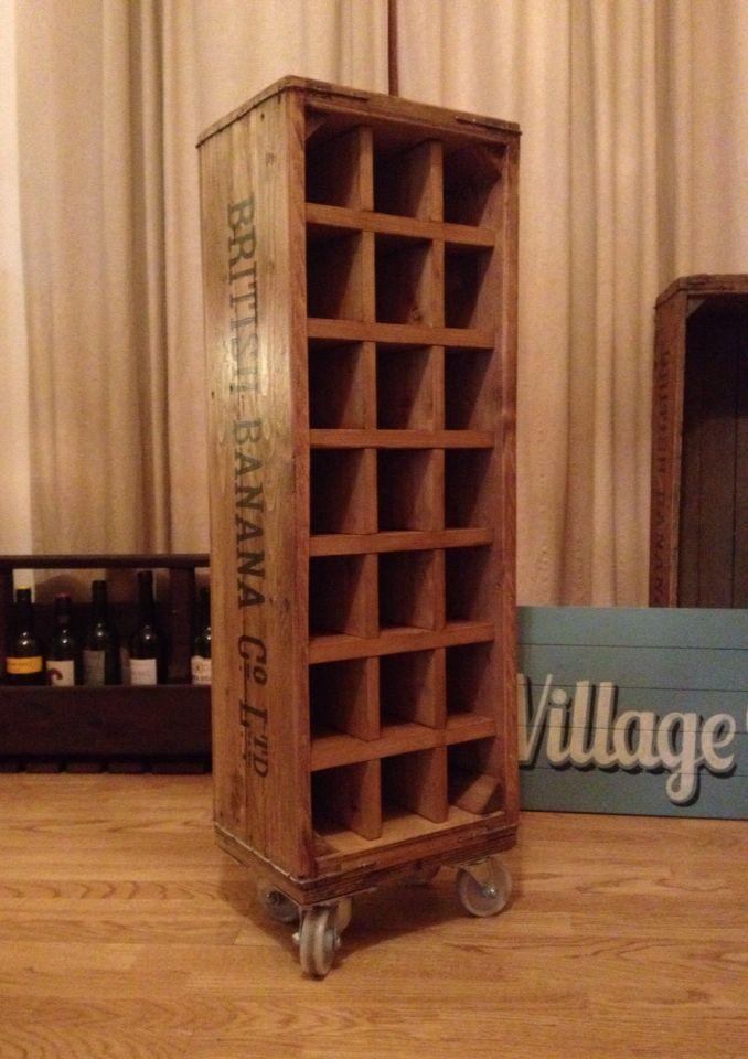 Handmade Banana Crate Wine Rack Creations In Reclaimed