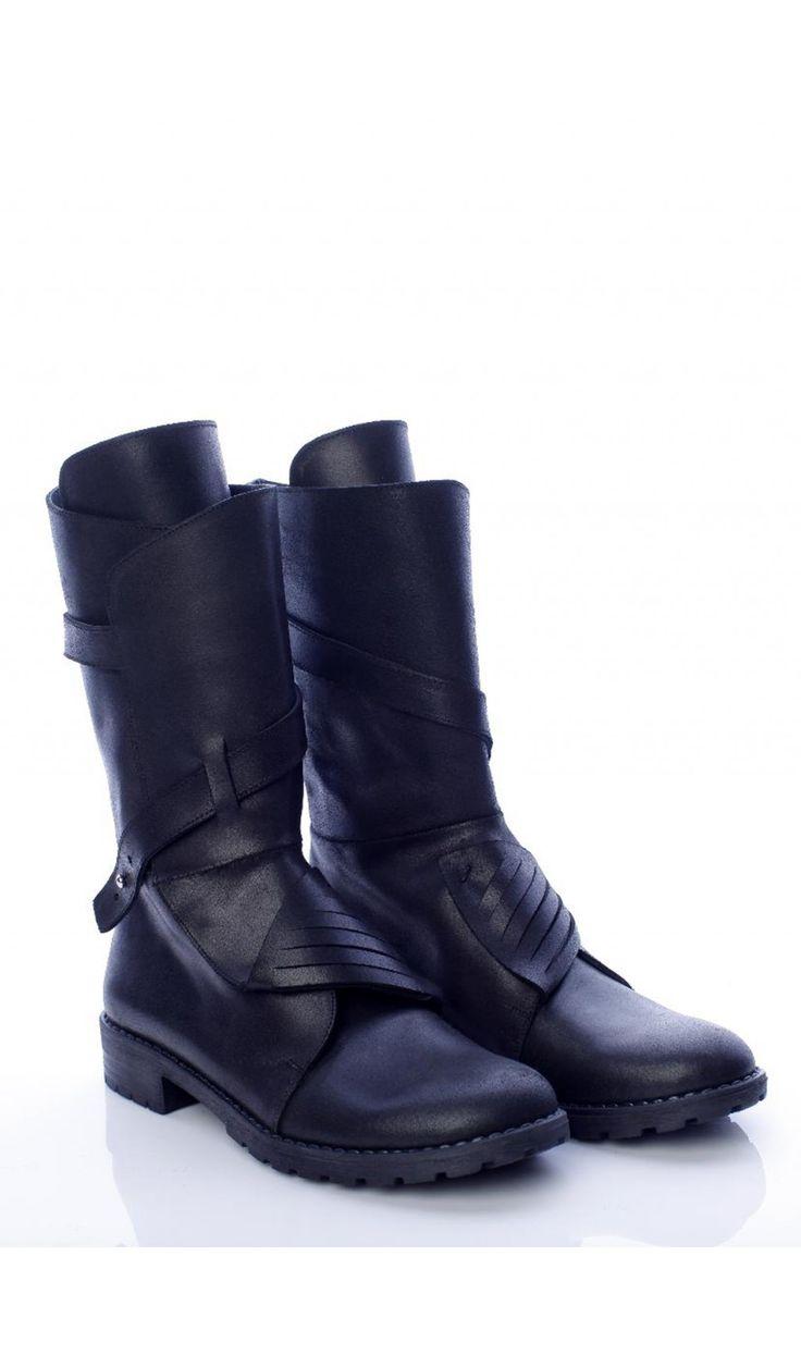 SEPALA - Bocanci negri din piele  #bocanci #boots #moja #sepala #leatherboots