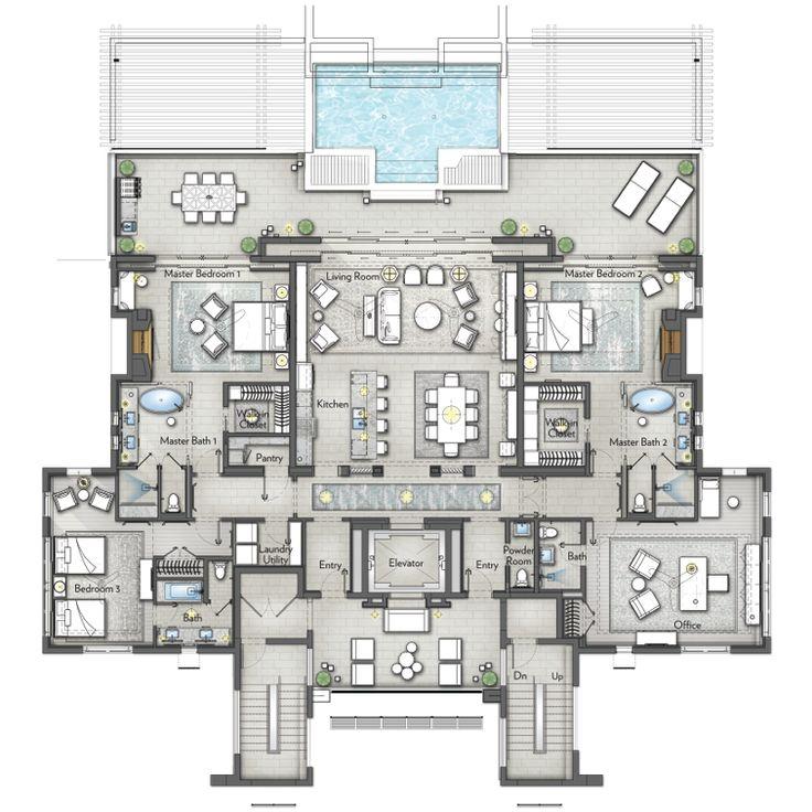 Ritz Carlton Reserve Residences Bermuda 4 Bedroom Penthouse Luxury Floor Plans