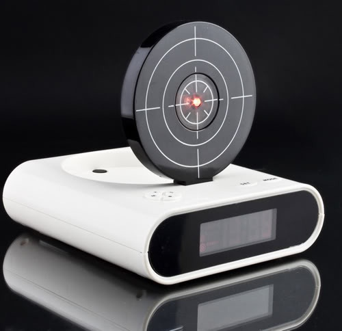 IR shorting Laser Gun Target Alarm Clock LCD, starting at $12.