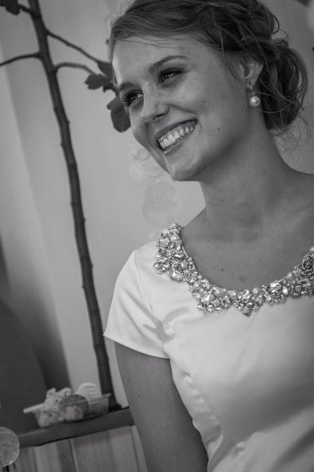 My daughter's wedding dress by Ane Marie Kofod, photographer Allan Lindy
