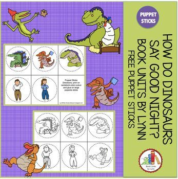 HOW DO DINOSAURS SAY GOOD NIGHT? BOOK UNIT ADD ON A-Z DOT DAUBER TRACE ALPHABET A-Z CLIP CARDS 1-10 TRACE LINES