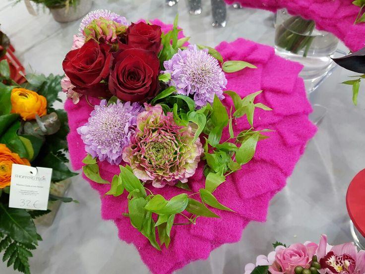 Bouquet coeur chez votre artisan fleuriste #Shopping Flor