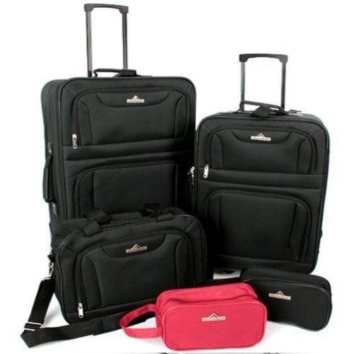 5-osainen laukkusetti, 99,95€. Sisältää 1 matkalaukku n. 64x44x21cm, noin 60L, 1 matkalaukku n. 52x37x18cm, noin 35L, 1 olkalaukku n. 38x28x15cm, noin 16L, 1 meikkipussi, punainen n. 23x13x10cm, noin 3L, 1 meikkipussi musta, n. 23x13x10cm, noin 3L. Ilmainen toimitus! #laukkusetti #laukku