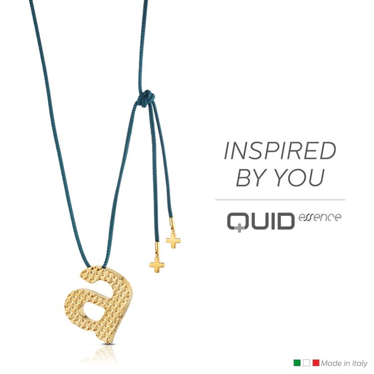 With Quid you can design your #necklace with your special number or letter and with the color you prefer. #personalized #jewels #jewellery