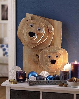 Un ours de #Noël en bois, un projet du #CDB