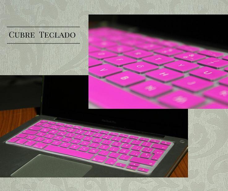 Cubre teclado de silicon para macbook. #rosa #pink #teclado #macbook #mac #regalo #awwww #bonito #tierno #14feb #valentine #protector #resistente #colores #moda #accesorio #apple #keyboard #accesories #bello #trendy #cute #gift #valentine's #love