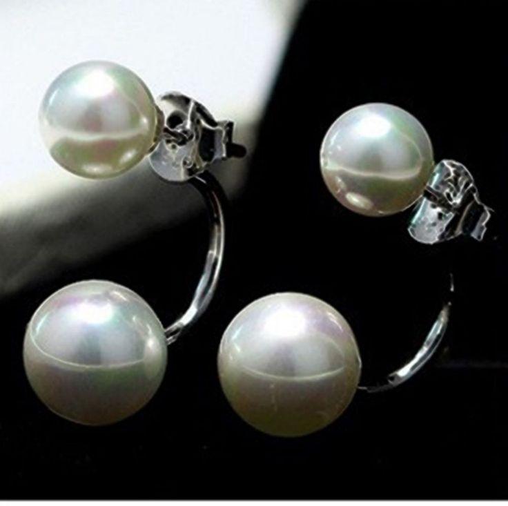 Ohrringe Doppel Ohrstecker Doppel Korea Style Silber plattiert | eBay
