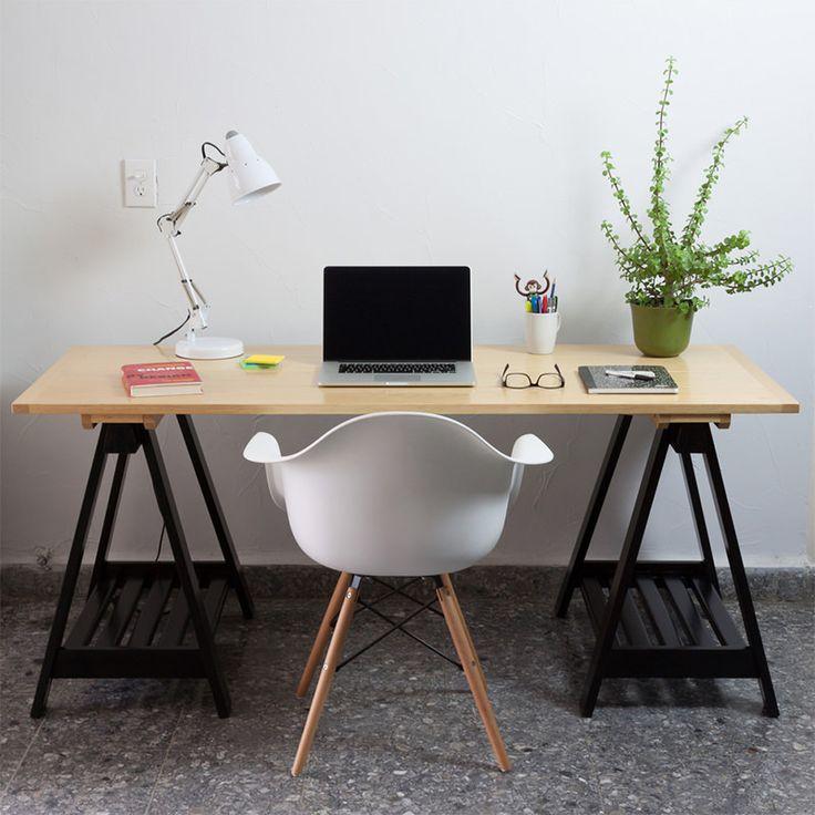 (Mais uma ideia para mesa do escritório: uso de cavaletes) 03-cadeira-charles-eames-escritorio
