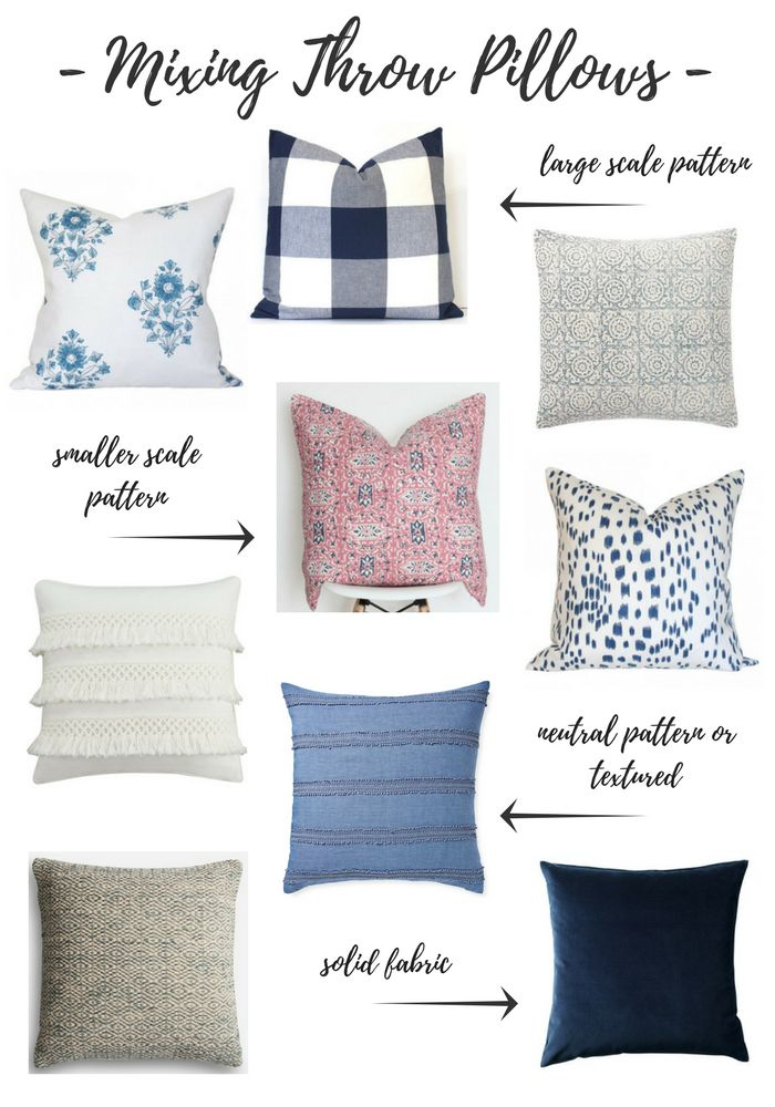 Looking for an easy way to update the look of your living room? Learn this simple formula for mixing throw pillows on your sofa and chairs the stylish way.