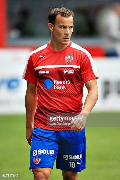 Anton Wede of Helsingborgs IF during the Allsvenskan match between Helsingborgs IF and IFK Norrkoping at Olympia Stadium on September 18 2016 in...