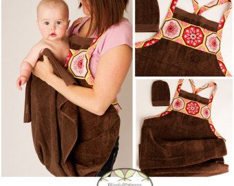 Easy to Sew Hooded Towel PDF Sewing Pattern por BLISSFULpatterns