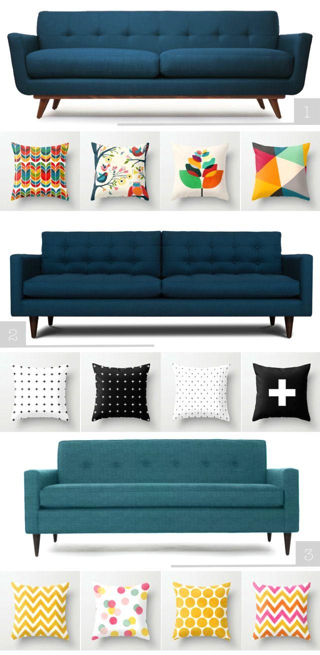 Tengo un sofá que quiero mandar retapizar pero no lo he hecho por el simple  hecho de que no me había decidido por el color. Inicialmente lo queria  azul porque es mi color favorito, pero creí que no se vería bien así que  pense en el gris como segunda opción y comencé a guardar imágenes de sofas  grises en mi Pinterest hasta que vi esta imagen:  I have a sofa I want to give a makeover, I´m currently obsessed with blue  fabric so I guess that will be its new color. Image via: @elsiecake La…
