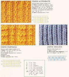 Punti/tecniche:trecce,noccioline,incrociati,tessuto tanti punti