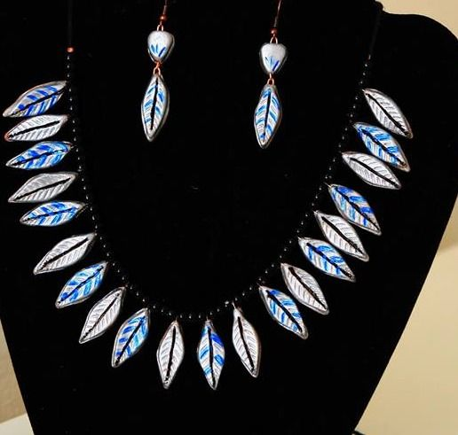 Silver Leaf Choker Set - Only $35 includes free shipping within the USA - Sold Out!!