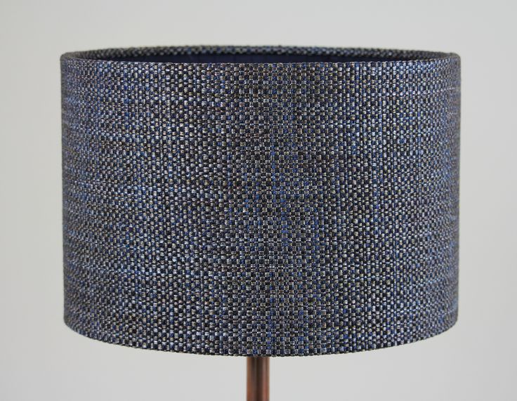 Handmade 30cm Drum - Textured weave 'Earth', Slub silk 'Ink' inner.