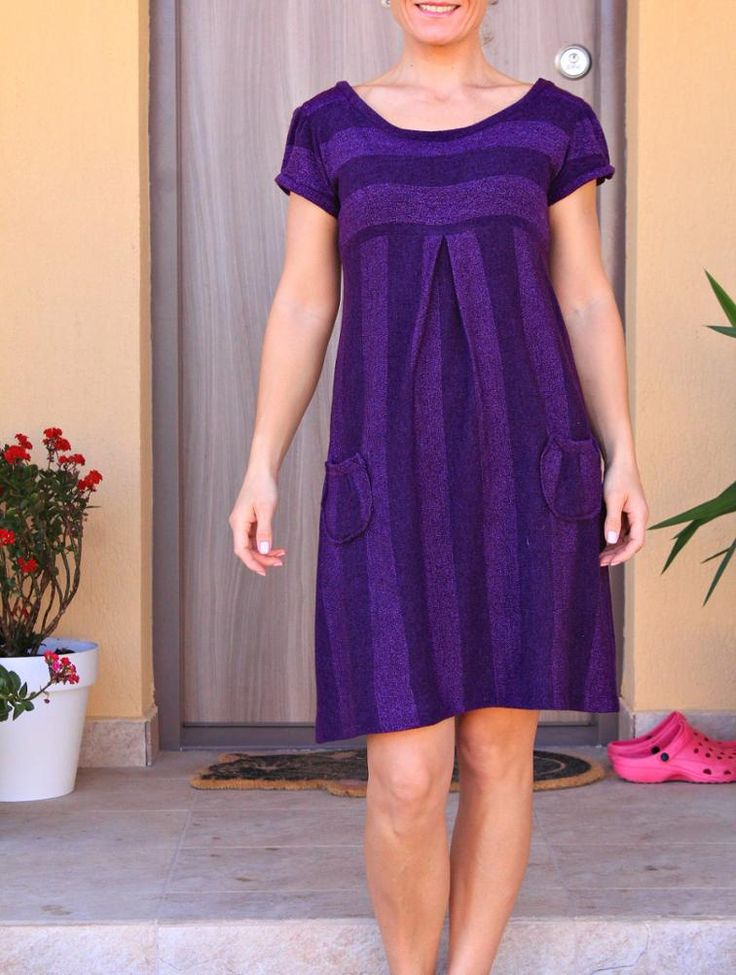 Easy Knit Dress with Pockets   Craftsy