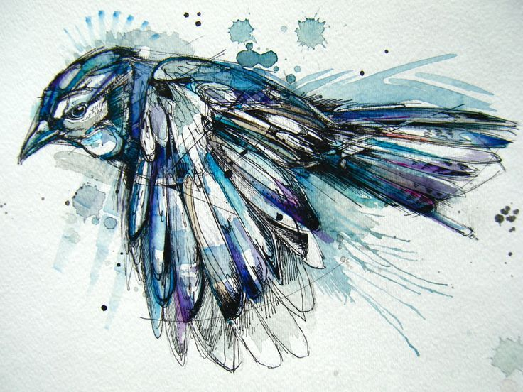 watercolour ink animals - Google Search