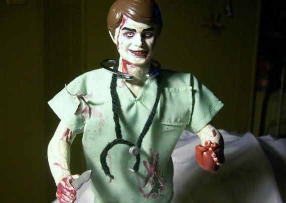 Dr. OZ ZOMBIE DOLL heart surgeon ooak custom by WaitingForHarvest