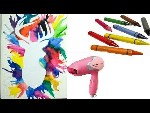 DIY - Deer Crayon Melting Art TUTORIAL - YouTube