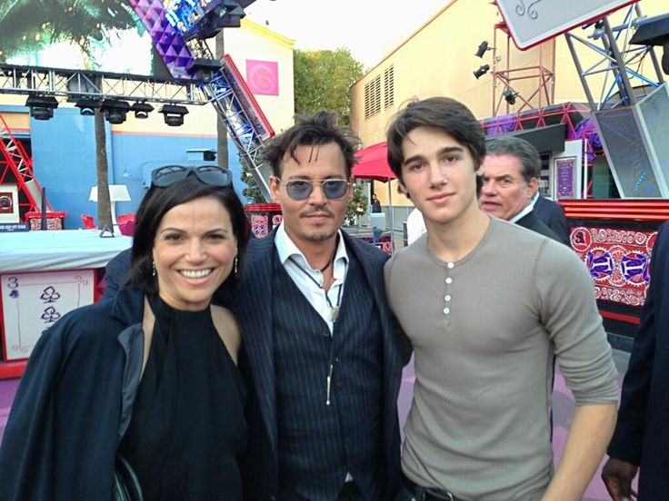Omg....Lana and Johnny Depp, my two favorite actors!!! With Jack DiBlasio