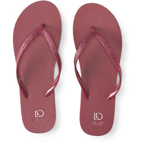 Aeropostale LLD Glitter Solid Flip-Flop ($6) ❤ liked on Polyvore featuring shoes, sandals, flip flops, multi color sandals, multicolor shoes, glitter shoes, strappy flip flops and monk-strap shoes