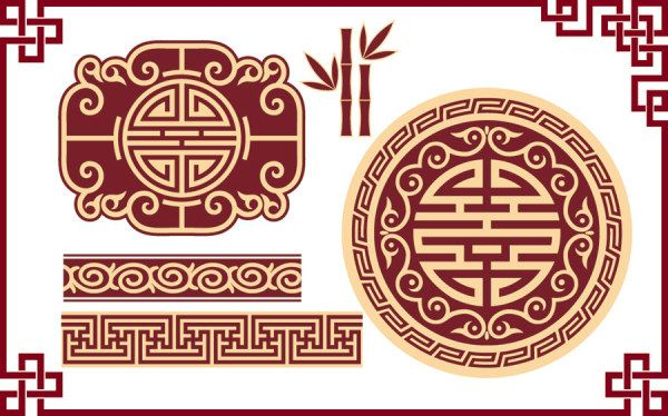 Chinese style classical pattern vector material 5