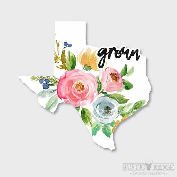 Texas Sticker, Texas Decal, Texas Decor, Yeti Decal, Yeti Stickers, Texas State, Car decals for women, Car Stickers, Laptop Stickers