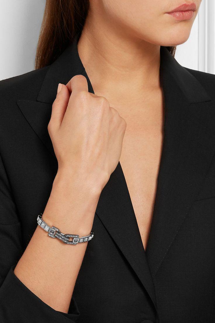 Lanvin | Silver-tone Swarovski crystal bracelet | NET-A-PORTER.COM